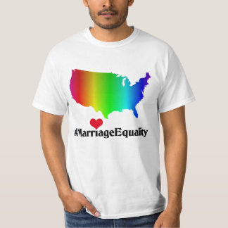 US Marriage Equality Rainbow Heart T-Shirt