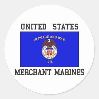 US Merchant Marine Classic Round Sticker