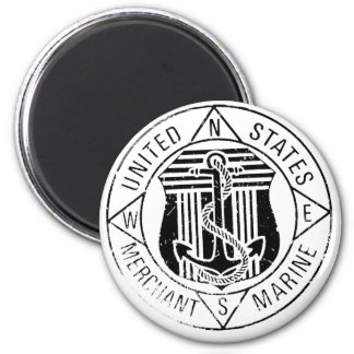 US Merchant Marines by: David Lee 2 Inch Round Magnet