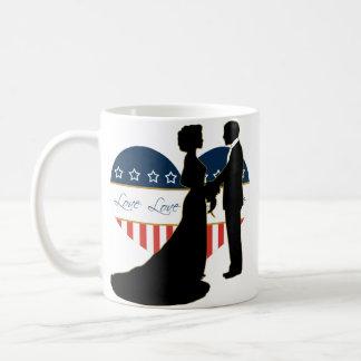US Military Heart Loving Couple Silhouette Mug