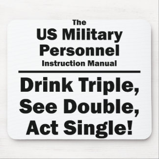 US military personnel Mouse Pad