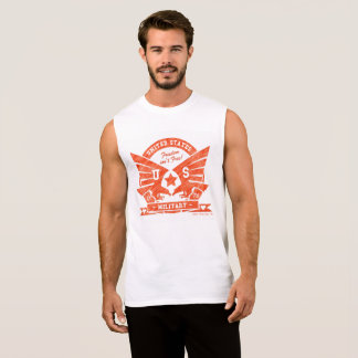 US MILITARY_red pencil design Sleeveless Shirt