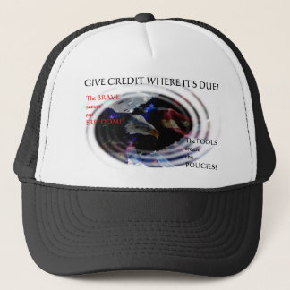 Us Military Support Trucker Hat