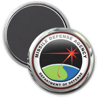 US Missile Defense Agency 3 Inch Round Magnet