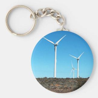 US Montana Windmills Basic Round Button Keychain