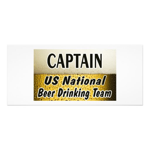 US National Beer Drinking Team Customized Rack Card