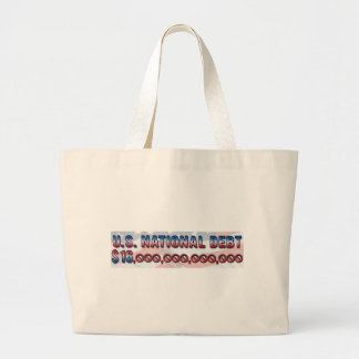 US National Debt $ 16 Trillion Dollars Jumbo Tote Bag