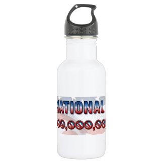 US National Debt $ 16 Trillion Dollars Stainless Steel Water Bottle