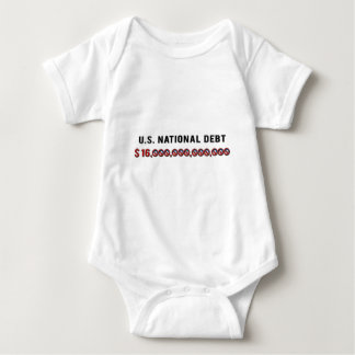 US National Debt Baby Bodysuit
