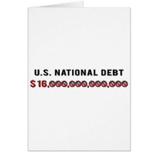 US National Debt Greeting Card