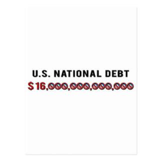 US National Debt Postcard