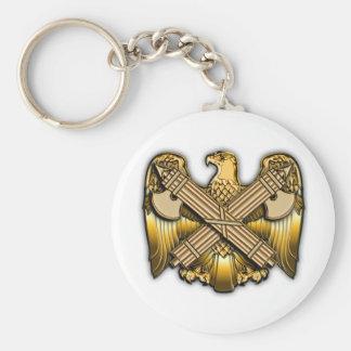 US National Guard Bureau Basic Round Button Keychain