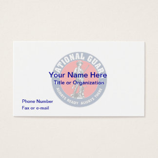 US National Guard Business Card