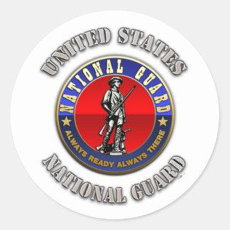 US National Guard Classic Round Sticker