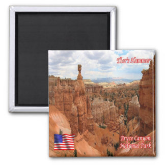 US National Park Bryce Canyon Queens Garden Traill 2 Inch Square Magnet