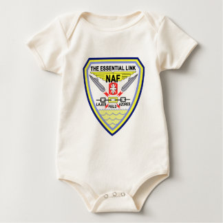 US NAVAL AIR LAJES AZORES Portugal Military Patch Baby Bodysuit
