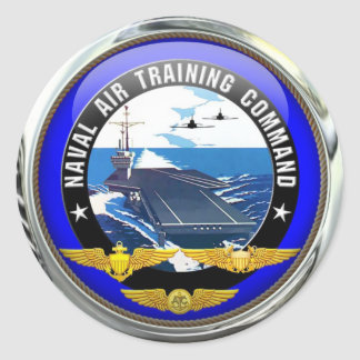 US Naval Air Training Command (pack of 6/20) Classic Round Sticker