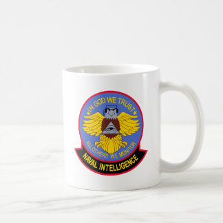 US NAVAL INTELLIGENCE Military Patch Coffee Mug