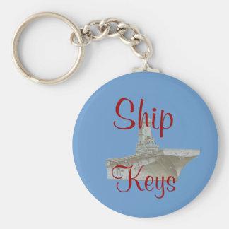 US Naval Ship Custom Keychain