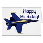 US NAVY Blue Angels Birthday Card