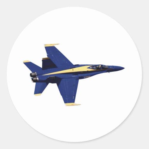 US NAVY Blue Angels In Flight at Fleet Week Classic Round Sticker