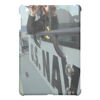 US Navy Boatswain's Mate looks through binocula Case For The iPad Mini