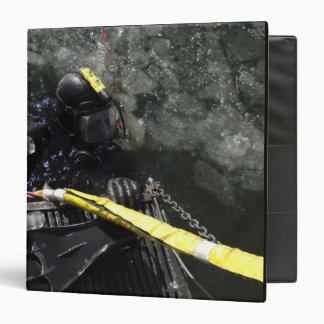 US Navy Diver gets ready to start his dive 3 Ring Binder