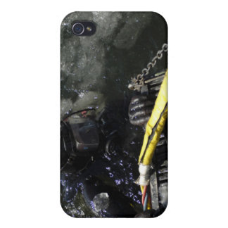 US Navy Diver gets ready to start his dive iPhone 4 Case