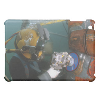 US Navy Diver uses a grinder Cover For The iPad Mini