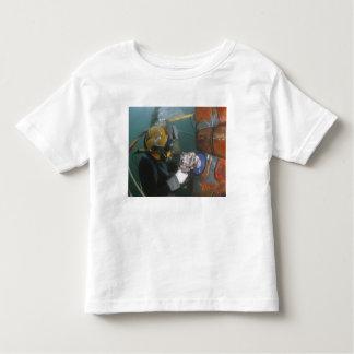 US Navy Diver uses a grinder Toddler T-shirt