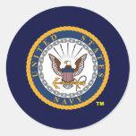 US Navy Emblem Classic Round Sticker