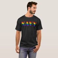 US Navy Rainbow LGBT Pride Military T-Shirt