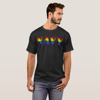 US Navy Rainbow LGBT Pride Military T-Shirt