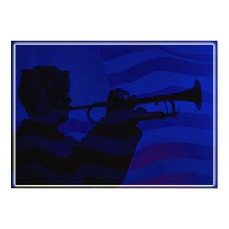 US Navy Sailor Playing Bugle Card