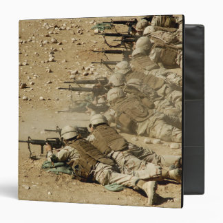 US Navy Seabees fire M-4 and M-16A2 rifles 3 Ring Binder