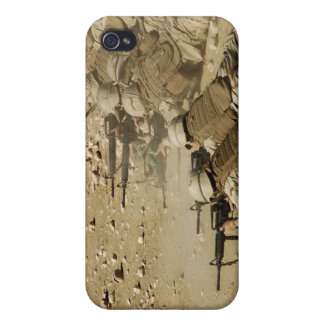 US Navy Seabees fire M-4 and M-16A2 rifles iPhone 4 Cases