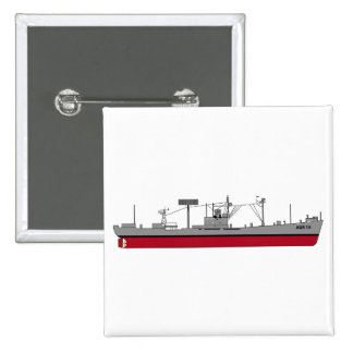 US Navy - USS Tracer AGR-15 - Color Silhouette Pinback Button