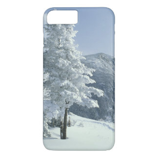 US, NH, Snow covered trees Trails Snoeshoe iPhone 7 Plus Case