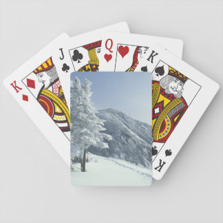 US, NH, Snow covered trees Trails Snoeshoe Playing Cards