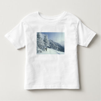 US, NH, Snow covered trees Trails Snoeshoe Toddler T-shirt