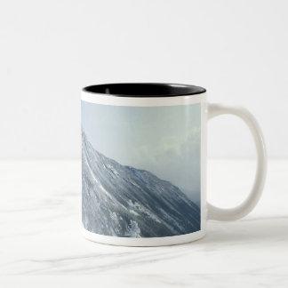 US, NH, Snow covered trees Trails Snoeshoe Two-Tone Coffee Mug
