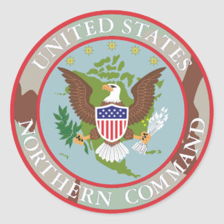 US Northern COMMAND 3Color Desert Classic Round Sticker