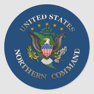 US Northern Command Classic Round Sticker