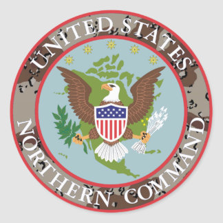 US Northern COMMAND desert Classic Round Sticker