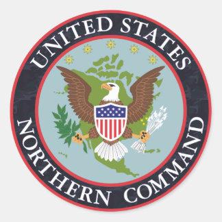 US Northern COMMAND Night_Camo Classic Round Sticker