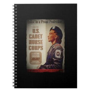 US NURSE CADET in BERET Notebook