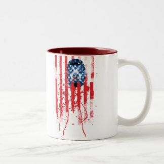 US of A Two-Tone Coffee Mug