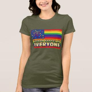 US of E Rainbow Women's Dark Tee