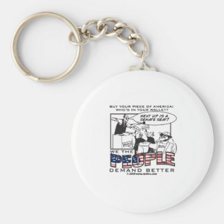 US Offices for sale! Basic Round Button Keychain