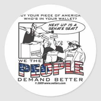 US Offices for sale! Classic Round Sticker